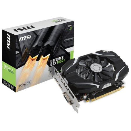 Placa de Video MSI GEFORCE GTX 1050 TI 4GB OC DDR5 128 BITS - GTX 1050 TI 4G OC