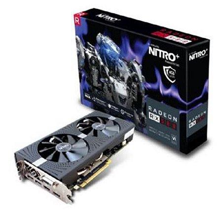Placa de Video SAPPHIRE RADEON RX 580 4GB NITRO+ DDR5 256BITS - 11265-07-20G