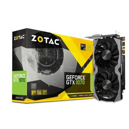 Placa de Video ZOTAC GEFORCE GTX 1070 8GB MINI DDR5 256BITS - ZT-P10700G-10M