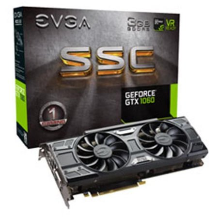 Placa de Video EVGA GEFORCE GTX 1060 SSC GAMING ACX 3.0 3GB DDR5 192 BITS - 03G-P4-6167-KR