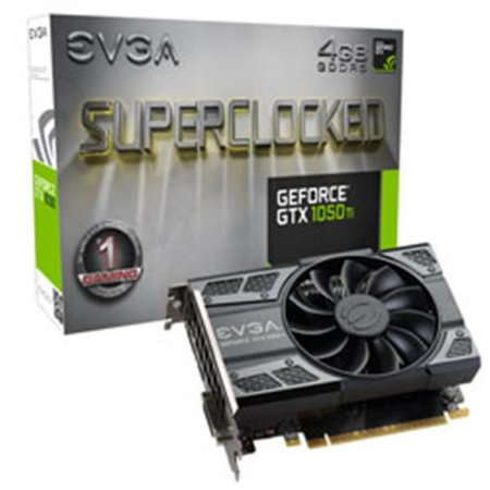 Placa de Video EVGA GEFORCE GTX 1050 TI 4GB SC GAMING ACX 2.0 (SINGLE FAN) DDR5 128 BITS - 04G-P4-62