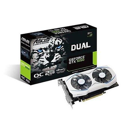 Placa de Video ASUS GEFORCE GTX 1050 2GB DUAL OC DDR5 128 BITS - DUAL-GTX1050-O2G