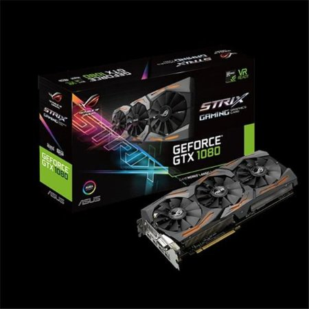 Placa De Video Asus Geforce GTX 1080 8GB DDR5X 256 BITS STRIX-GTX1080-A8G-GAMING