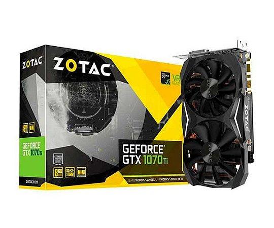Placa de Video ZOTAC GEFORCE GTX 1070 TI MINI 8GB GDDR5 256 BITS - ZT-P10710G-10P