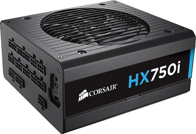 Fonte Corsair ATX 750W HXI750 FULL-MODULAR 80PLUS PLATINUM CP-9020072-WW