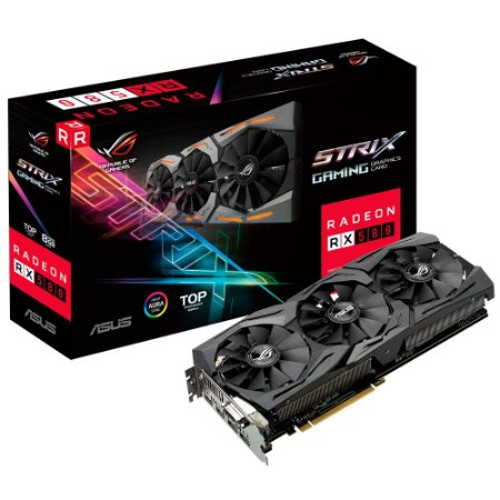 Placa de Video ASUS RADEON RX 580 TOP EDITION 8GB DDR5 256 BITS - ROG-STRIX-RX580-T8G-GAMING