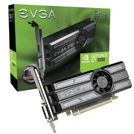 Placa de Video EVGA GEFORCE GT 1030 SC 2GB DDR5 64BITS - 02G-P4-6333-KR