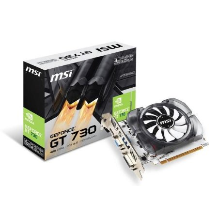 Placa de Video MSI GEFORCE GT 730 4GB DDR3 128 BITS - N730-4GD3V2