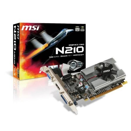 Placa de Video MSI GEFORCE GT 210 1GB DDR3 64BITS - N210-MD1G/D3 - ESP