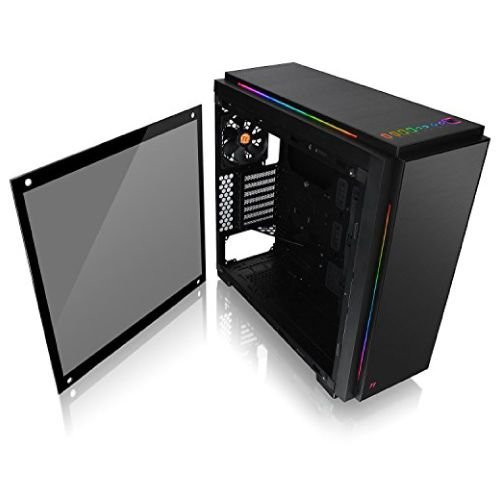 Gabinete Thermaltake TT VERSA C23 TG RGB BLACK/TEMPERED GLASS*1