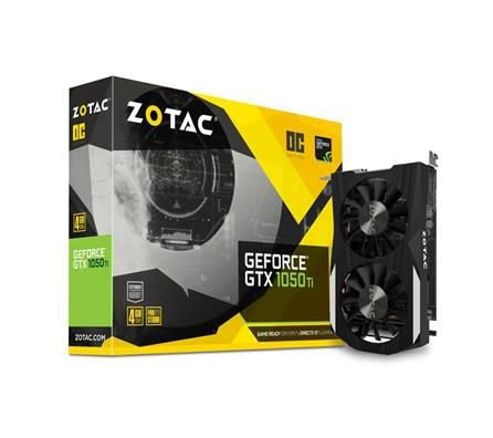 PLACA DE VIDEO ZOTAC GEFORCE GTX 1050 TI 4GB OC EDITION DDR5 128 BITS - ZT-P10510B-10L