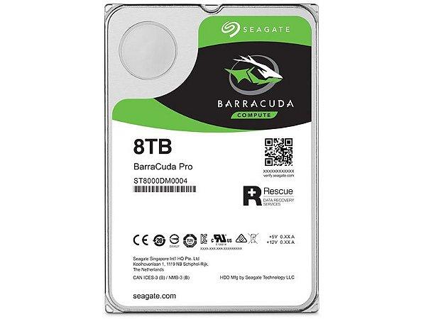 HDD Seagate Barracuda PRO 8 TERA 7200RPM 256MB CACHE SATA 6GB/S RESCUE 02 ANOS HDD 3,5 DESKTOP