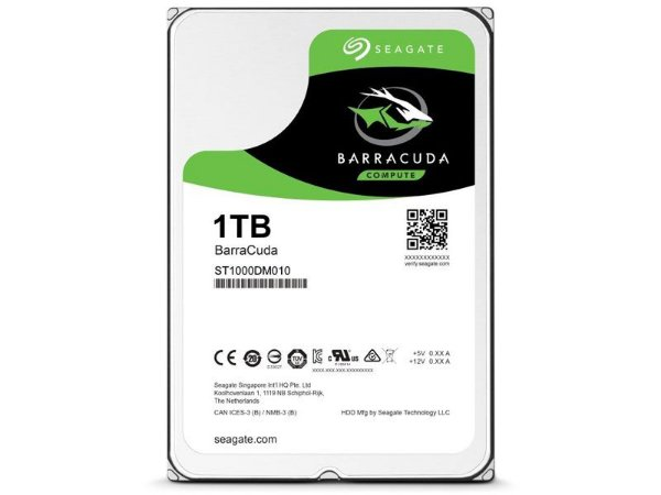 HDD Seagate Barracuda BARRACUDA 1 TERA 7200RPM 64MB SATA 6GB/S HDD 3,5 DESKTOP