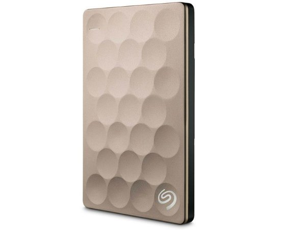 HDD Externo Portatil Seagate 2 TERAS BACKUP PLUS ULTRA SLIM DOURADO USB 3,0