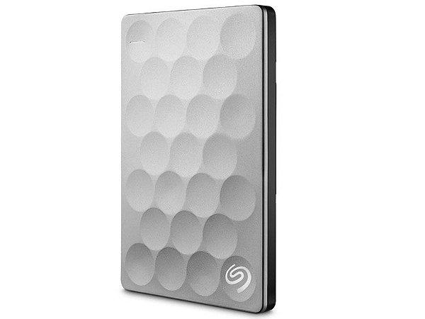 HDD Externo Portatil Seagate 2 TERAS BACKUP PLUS ULTRA SLIM PLATINA USB 3,0