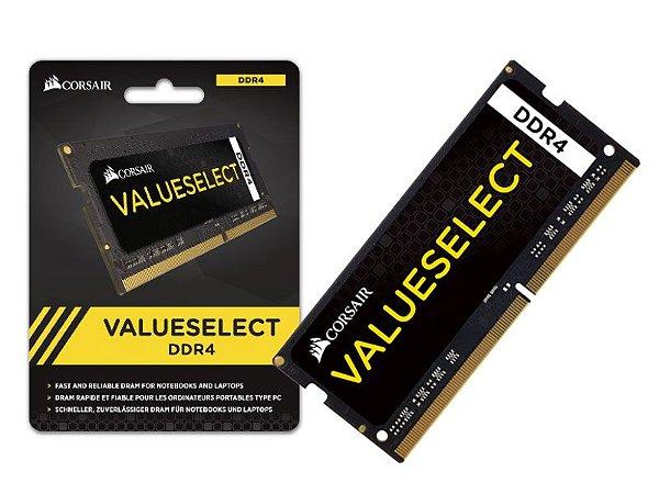 Memória Corsair SODIMM DDR4 8GB C15 2133MHZ PARA NOTEBOOK
