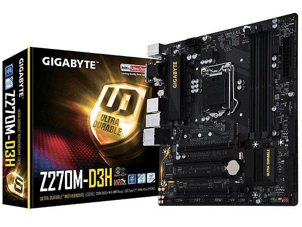 Placa Mae Gigabyte Z270M-D3H MATX DDR4 3866MHZ M.2 HDMI USB 3.1