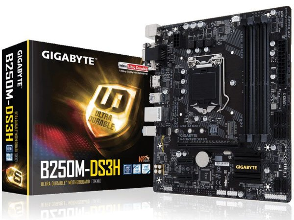 Placa Mae Gigabyte B250M-DS3H MATX DDR4 2400MHZ M.2 HDMI USB 3.1