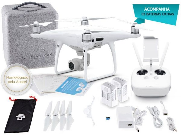 Drone DJI PHANTOM 4 ADVANCED COMBO C/ 02 BATERIAS EXTRAS- 37846-9