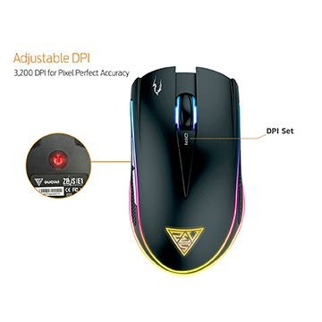 Combo Mouse Gamer Gamdias ZEUS E1 3200 DPI + Mousepad