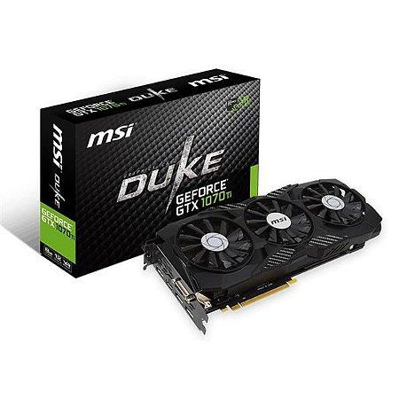 PLACA DE VIDEO MSI GEFORCE GTX 1070 TI DUKE 8G DDR5 256 BITS - GEFORCE GTX 1070 TI DUKE 8G