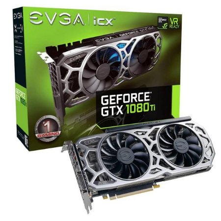 Placa De Video Evga Geforce GTX 1080 TI 11GB ICX GAMING DDR5X 352BITS 11G-P4-6591-KR