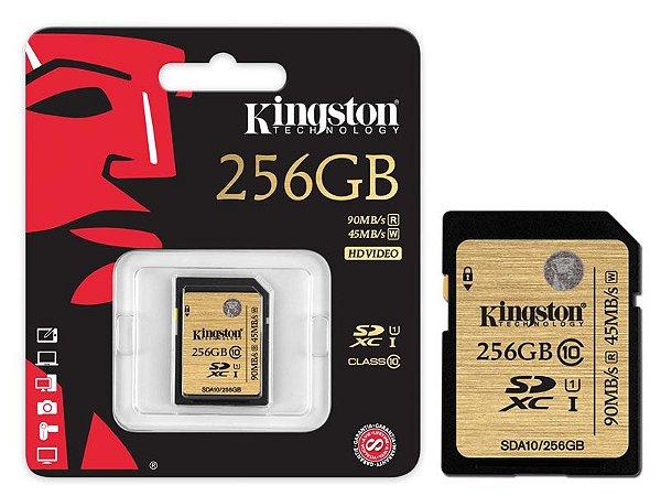 Cartão De Memoria Kingston CLASSE 10 SDXC 256GB UHS-I U3 ULTIMATE