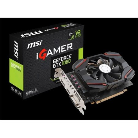 PLACA DE VIDEO MSI GEFORCE GTX 1060 IGAMER 6GB DDR5 - GEFORCE GTX 1060 IGAMER 6G OC