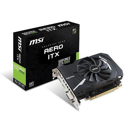 Placa De Video MSI Geforce GTX 1050 AERO ITX 2G OC DDR5 GEFORCE GTX 1050