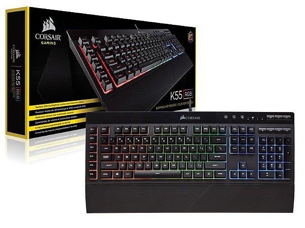 Teclado Corsair Gaming K55 RGB ABNT 2
