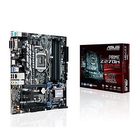 Placa Mãe Asus ATX (1151) - DDR4 - Z270M-PLUS/BR
