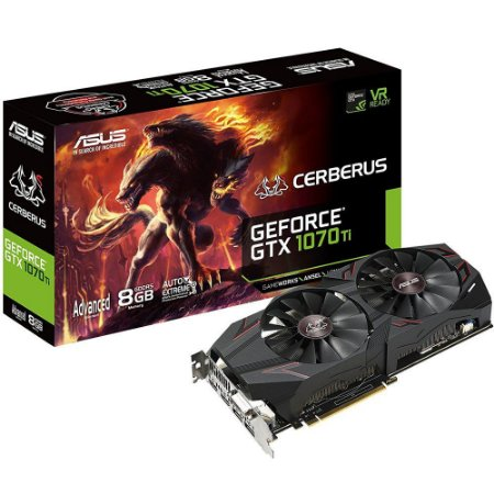 Placa De Video Asus Geforce GTX 1070 TI 8GB DDR5 - CERBERUS-GTX1070TI-A8G