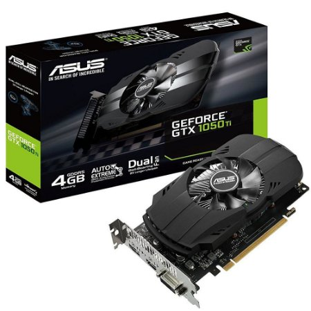 Placa De Video Asus Geforce GTX 1050 TI 4GB PHOENIX DDR5 128BITS PH-GTX1050TI-4G