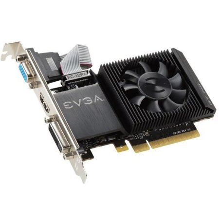 PLACA DE VIDEO EVGA GEFORCE GT 710 2GB DDR3 64 BITS - 02G-P3-2713-KR
