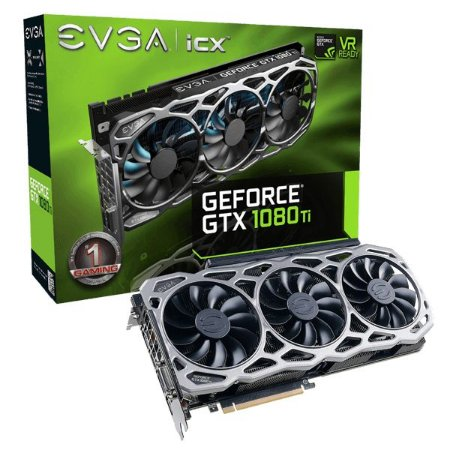 Placa De Video Evga Geforce GTX 1080 TI FTW3 GAMING 11GB DDR5X 352 BITS 11G-P4-6696-KR