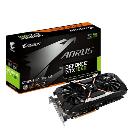 Placa De Video Gigabyte Geforce GTX 1060 Aorus X ED 6GB DDR5 192 ITS GV-N1060AORUS X-6GD