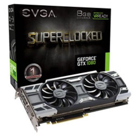Placa De Video Evga Geforce GTX 1080 8GB GAMING ACX 3.0 DDR5X 256BITS 08G-P4-6183-KR