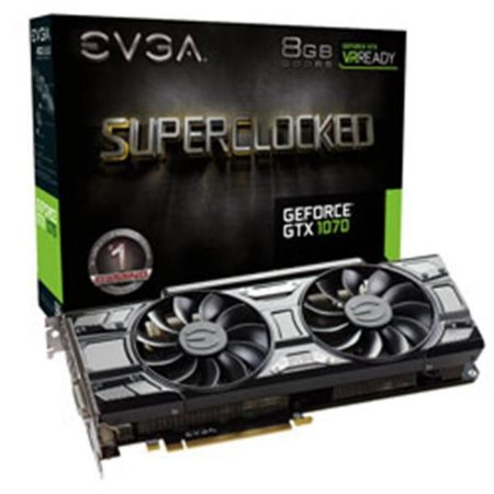 Placa De Video Evga Geforce GTX 1070 GAMING ACX 3.0 BLACK ED 8GB DDR5 08G-P4-5173-KR