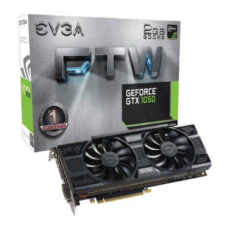 Placa De Video EVGA Nvidia Geforce GTX 1050 FTW GAMING 2GB GDDR5 128 BITS ACX 3.0 02G-P4-6157-KR