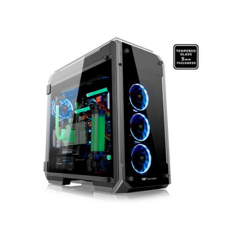 Gabinete Thermaltake TT VIEW 71 TG BLACK/WIN/TEMPERED GLASS*4