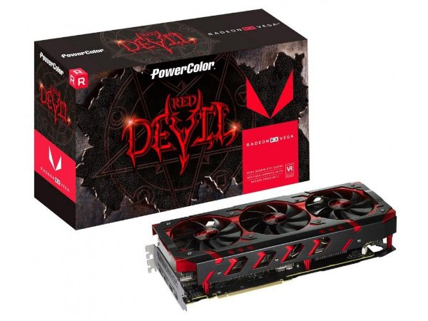 Placa De Video Power Color Red Devil RX VEGA 64 8GB HBM2 2048 BITS - AXRX VEGA 64 8GBHBM2-2D2H/OC