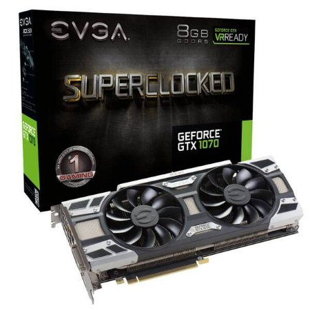 Placa De Video Evga Geforce GTX 1070 8GB SC GAMING ACX 3.0 DDR5 256BITS 08G-P4-6173-KR