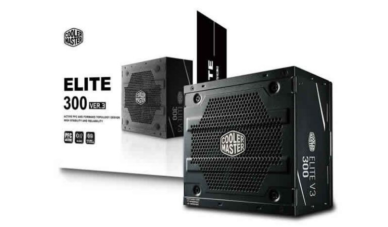 Fonte Cooler Master Elite V3 Full Range 300W A/WO Cable
