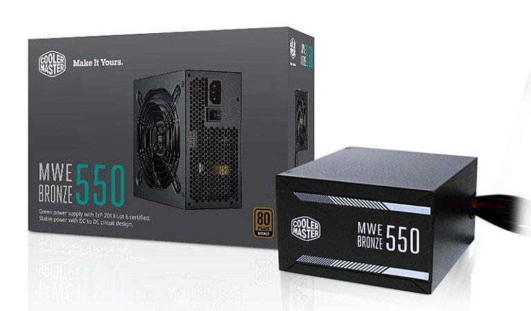 Fonte Cooler Master MWE 550W Bronze W/O Power Cord