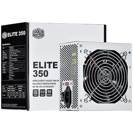 Fonte Cooler Master ATX ELITE 350W REAL - RS350-PSARI3-WO