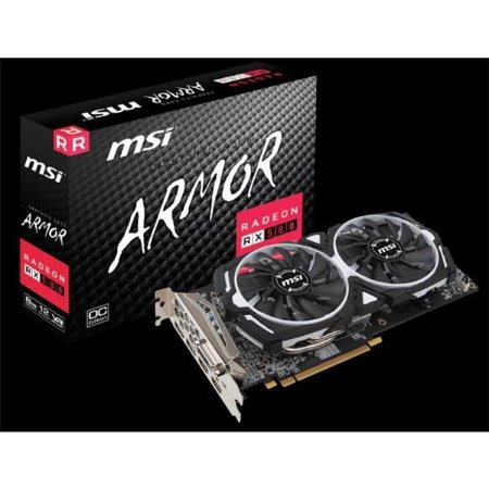 Placa De Video Msi Radeon RX 580 8GB ARMOR OC DDR5 256BITS RADEON RX 580 ARMOR 8G OC