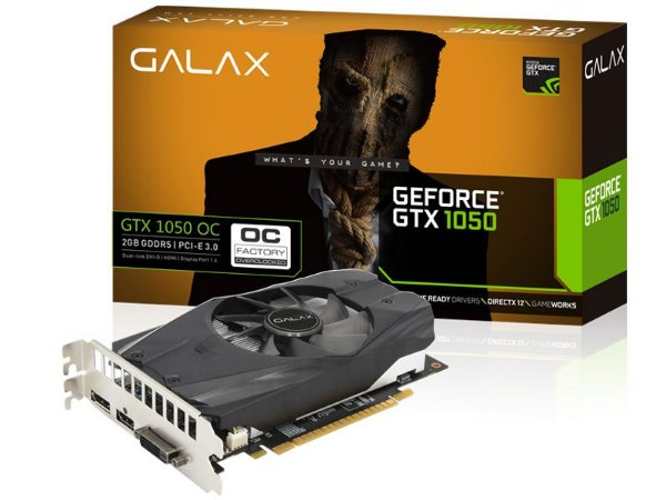 Placa de Video Galax Geforce GTX 1050 Perfomance Nvidia OC 2GB DDR5 128BIT 7008MHZ