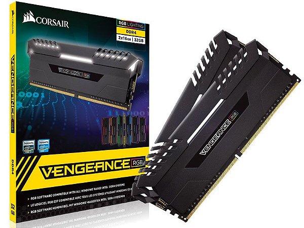 Memória Corsair Vengeance RGB 32GB KIT (2X16GB) 3000MHZ CL16 - CMR32GX4M2D3000C16