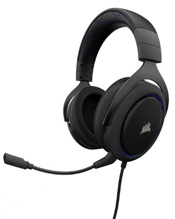 Headset Gamer Corsair HS50 P2 Stereo CA-9011172-NA Azul