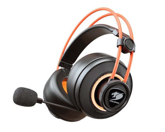 Headset Gamer Cougar Immersa Pro Ti, Surround 7.1, Black/Orange - 3H700U50T.0001